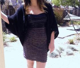 Shrug Cardigan Shawl w/Sleeves Easy/Beginner Elegant Sparkle CROCHET PDF PATTERN