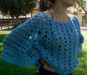 Angel Sleeve Sweater Top Beach Cover-Up CROCHET PDF PATTERN