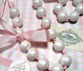 Gumball Necklace Couture Pearls &quot;edible&quot;, These Shabby Chic's are Great for Party Favors for Birthdays, Baby Showers, Bachelorette Parties