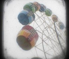 Ferris Wheel Photo 5x5 TtV Carnival Photography - Nursery Art Print