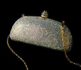 Bridal Evening Bag w/ Swarovski Crystals