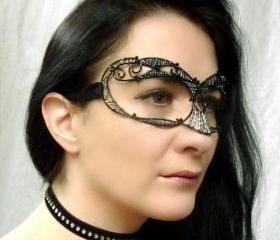 Black ladies masquerade mask