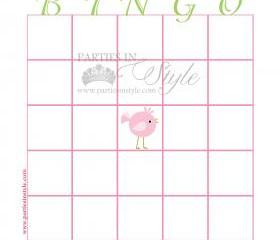 Baby Shower Game - Bingo - Printable DIY