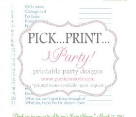 Baby Shower Game - Candy Bar Concentration - Printable DIY
