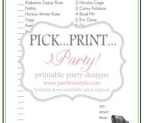 Baby Shower Game - Celebrity Baby Match - Printable DIY