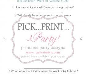 Baby Shower Game - Daddy Knows Best - Printable DIY