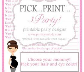 Baby Shower Game - How Well Do You Know the Mom to be - Printable DIY