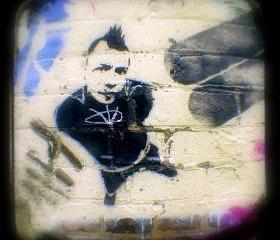 Graffiti Photography 5x5 TtV Urban Photograph - Punk Art Print - Street Art Home Decor