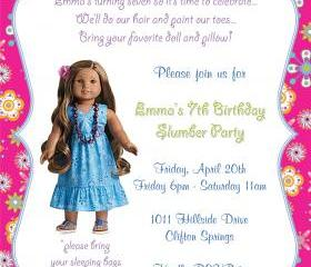 Birthday Invitation - American Girl Kanani - Printable DIY