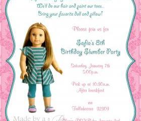 Birthday Invitation - American Girl McKenna - Printable DIY