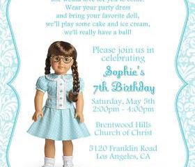 Birthday Invitation - American Girl Molly - Printable DIY