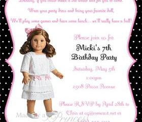 Birthday Invitation - American Girl Rebecca - Printable DIY