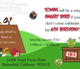 Birthday Invitation - Angry Birds - Printable DIY