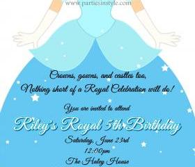 Birthday Invitation - Princess Series Cinderella - Printable DIY