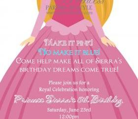 Birthday Invitation - Princess Series Sleeping Beauty - Printable DIY