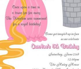 Birthday Invitation - Princess Series Rapunzel - Printable DIY