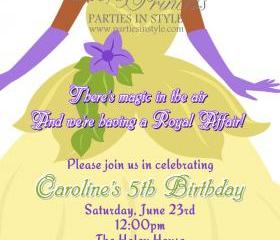Birthday Invitation - Princess Series Tiana - Printable DIY