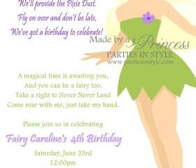 Birthday Invitation - Princess Series Tinkerbell - Printable DIY