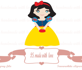 Snowwhite digital image-clipart for personal and commercial use