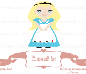 Alice in wonderland digital image-clipart for personal and commercial use
