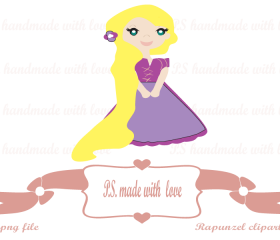 Rapunzel digital image-clipart for personal and commercial use
