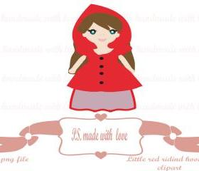 Little red riding hood digital image-clipart