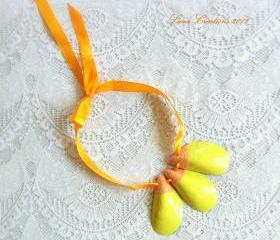 Yellow Sunshine Necklace