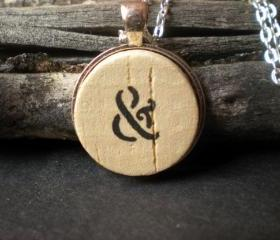 Ampersand Cork Necklace