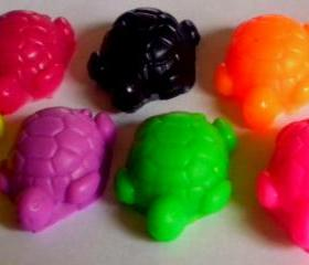 Soap - Baby Turtles - 10 Soaps - Party Favors, Birthdays - You Choose Color and Scent