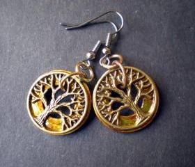 Butterscotch Tree of Life Earrings