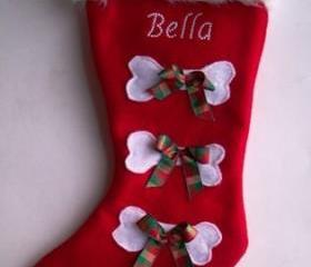 Pet stocking Personalized Christmas Stocking With Your Dog's Name