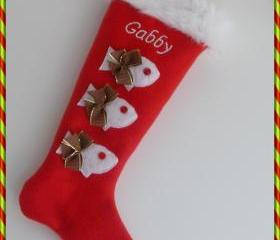 Cat Personalized Christmas Stocking: Custom With Your Cat Name