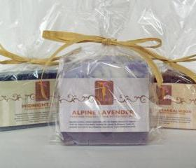 3 Shea Butter Soaps all Natural with Honey or Lavender or Rose and Essential oils 5 to 6 oz