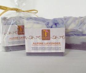 Alpine Lavender Shea Butter Soap with Coconut Milk 6 oz Big Bar