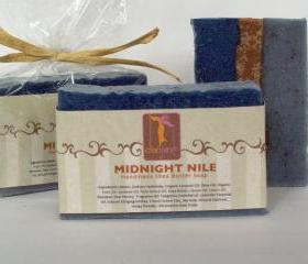 Midnight Nile-Herbal Shea Butter Soap with Atlantic Kelp, French Green Clay, Oatmeal and Honey - Scented 5oz Bar