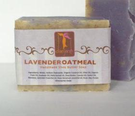 Lavender Oatmeal Organic Shea Butter Soap 5.5oz Big Bar
