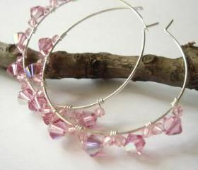 Pink Bubblegum Hoops