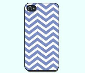 iphone 4 case --blue chevron pattern ,iphone 4s case