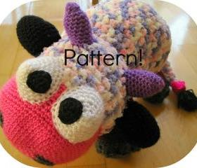 Crochet pattern, Cow amigurumi toy - Crochet tutorial PDF