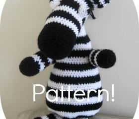 Crochet pattern, Zebra amigurumi toy - Crochet tutorial PDF