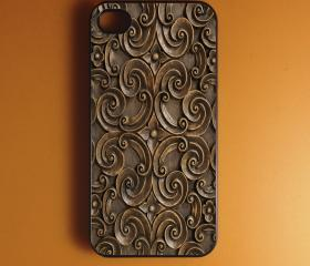 Iphone 4 Case - Carved Wood Iphone Case,Iphone 4s Case