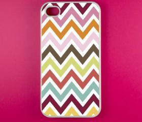 Iphone 4s Case - Colorful Chevron Iphone Case, Iphone 4 Case