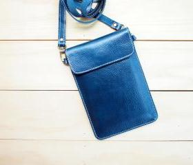 Passport, Travel, Leather bag, BLUE