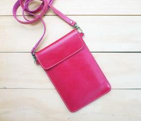 Passport, Travel, Leather bag, PINK