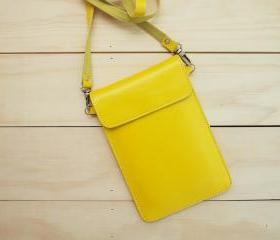 Passport, Travel, Leather bag, Yellow
