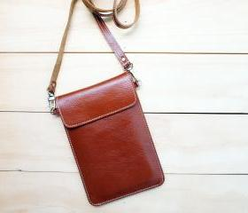 Passport, Travel, Leather bag, Natural Brown
