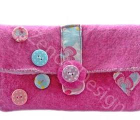 Retro/ shabby chic clutch handbag