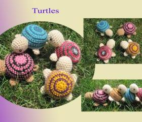 Crochet Turtle - Choose your own - (CT1-4)