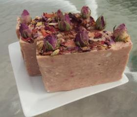 Rose Absolute EO and Passionfruit Rose FO Soap Slice with Goats Milk / French Milled