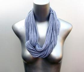 Infinity Scarf Necklace - Heather Grey